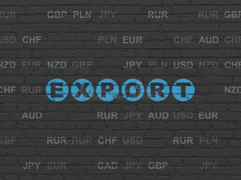 Conceito da finança: Exportação no fundo da parede ilustração royalty free