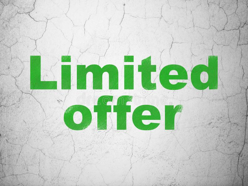 Conceito da finança: Oferta limitada no fundo da parede fotos de stock royalty free