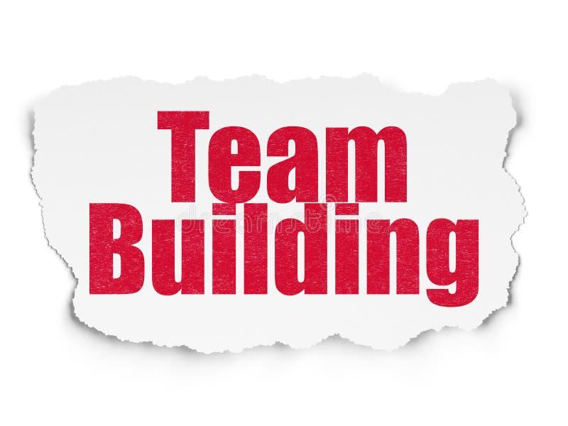 Conceito da finança: Team Building no fundo de papel rasgado ilustração stock
