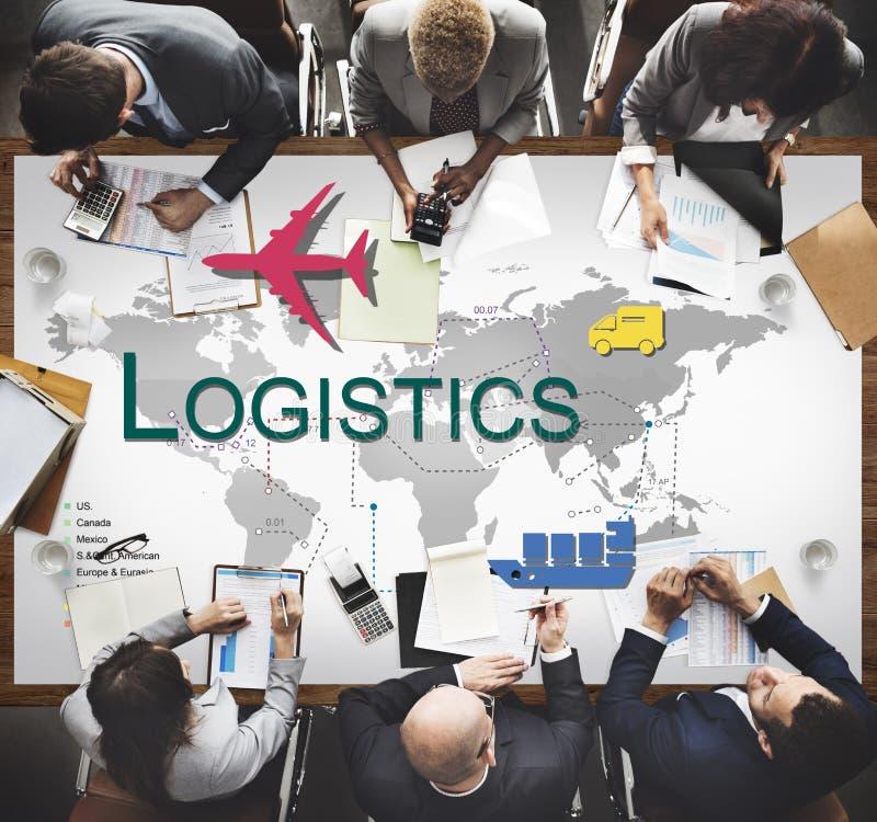 Conceito da fonte do armazenamento da gestão do frete da logística imagem de stock