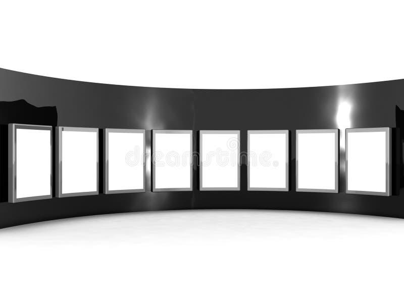 Conceito da galeria do showreel dos produtos ilustração stock