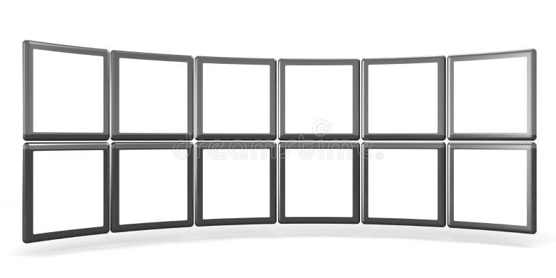 Conceito da galeria do showreel dos produtos ilustração do vetor