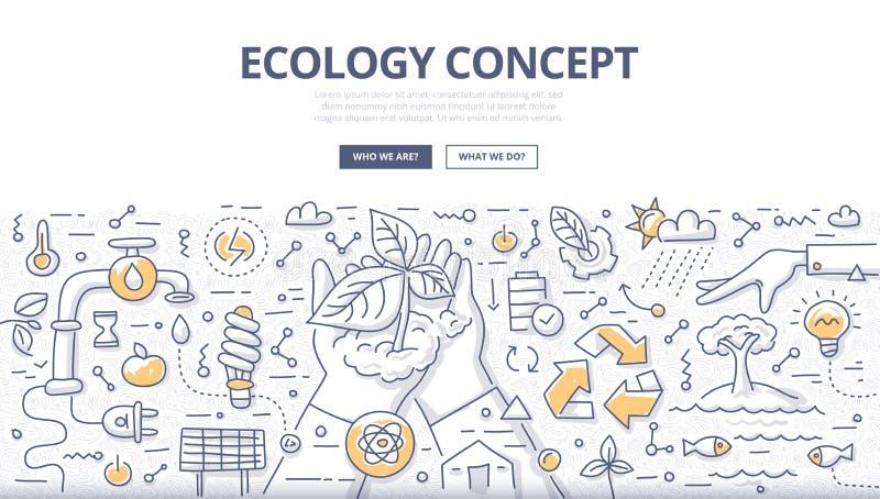 Conceito da garatuja da ecologia ilustração do vetor