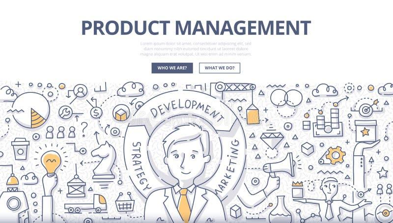 Conceito da garatuja da gestão de produtos ilustração royalty free