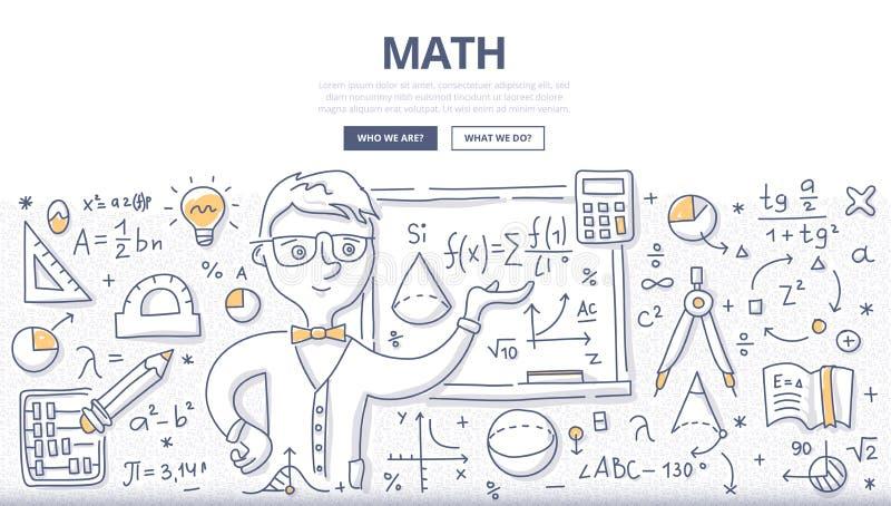 Conceito da garatuja da matemática ilustração royalty free
