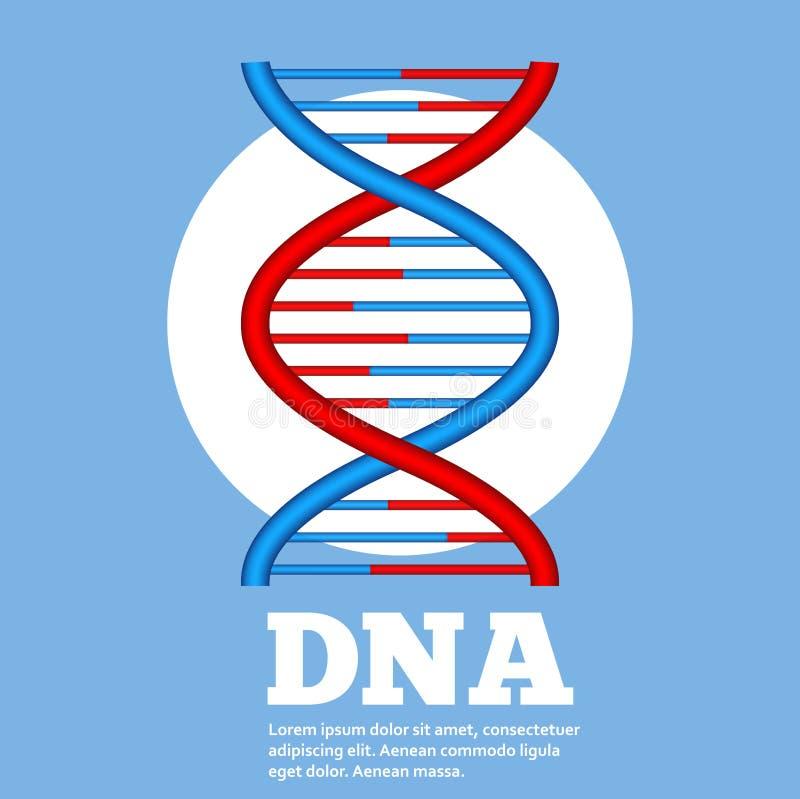 Conceito da genética com mão do robô ilustração royalty free