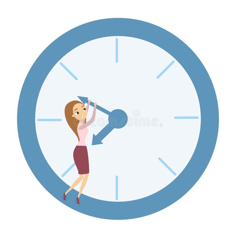 Conceito da gestão de tempo ilustração do vetor