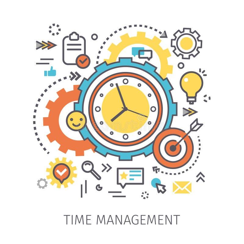 Conceito da gestão de tempo ilustração royalty free