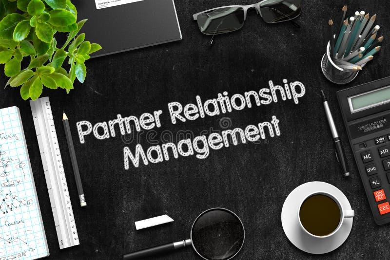 Conceito da gestão do relacionamento do sócio 3d rendem imagem de stock royalty free