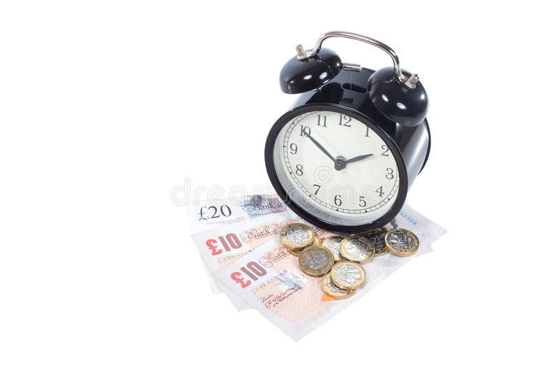Conceito da gestão e da produtividade de tempo imagens de stock