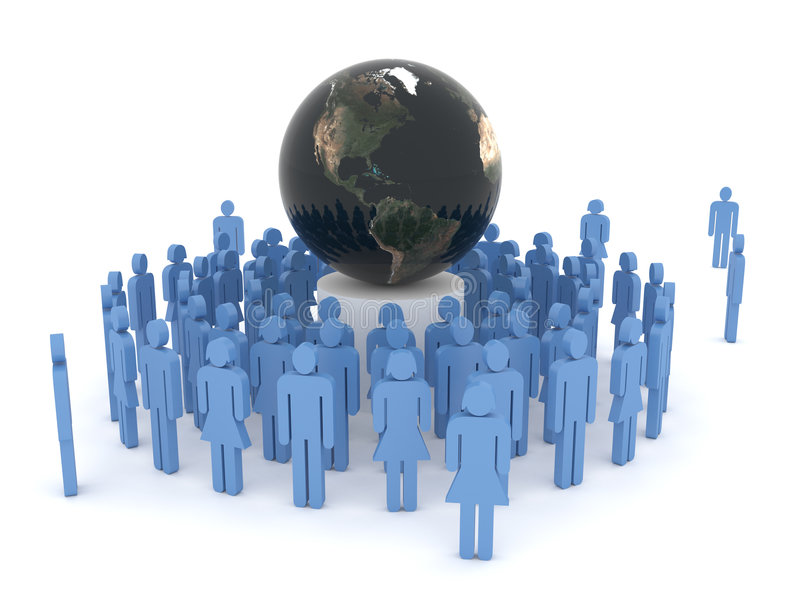 Conceito da globalização ilustração do vetor