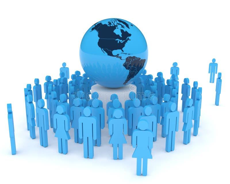 Conceito da globalização ilustração royalty free