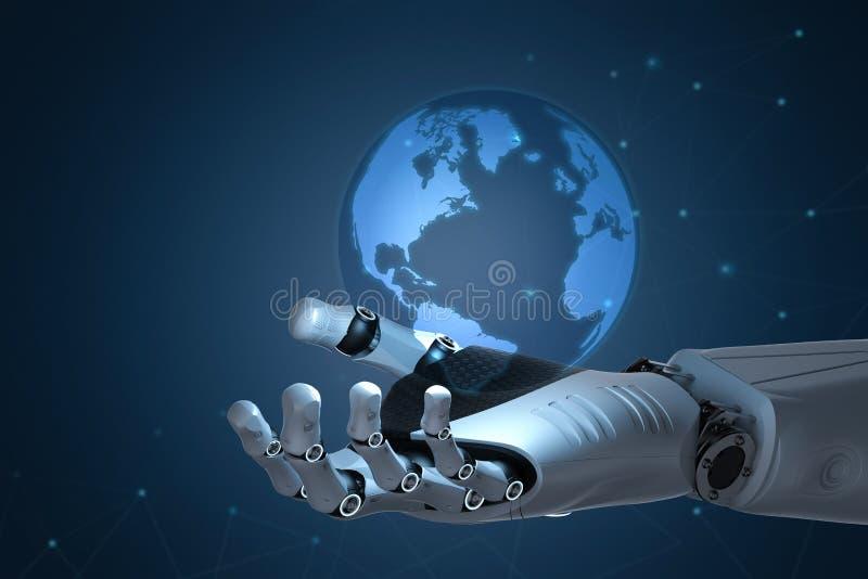 Conceito da globalização da tecnologia fotos de stock royalty free