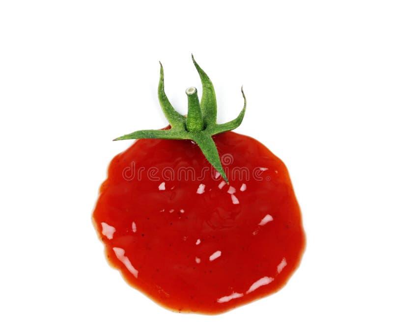 Conceito da gota da ketchup imagens de stock
