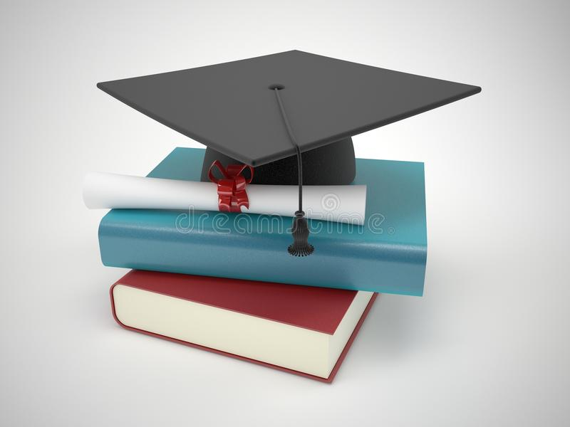 Conceito da graduação ilustração stock