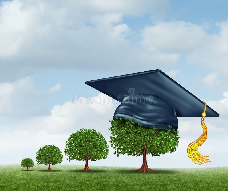 Conceito da graduação ilustração do vetor