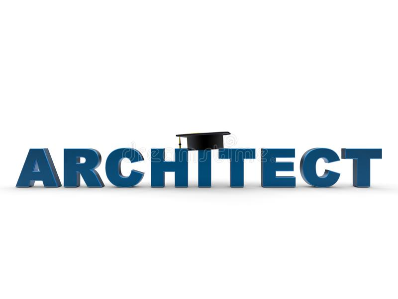 Conceito da graduação da arquitetura ilustração do vetor
