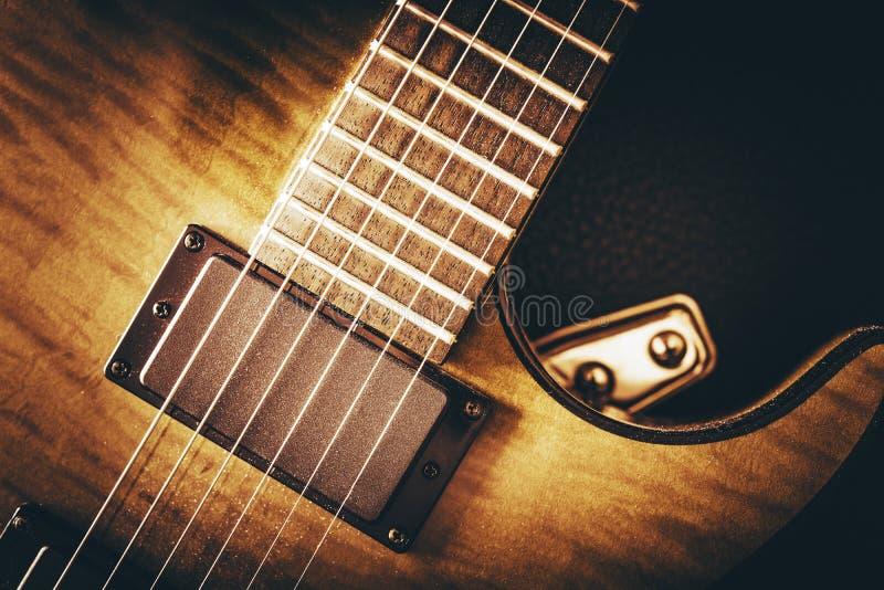 Conceito da guitarra elétrica fotos de stock