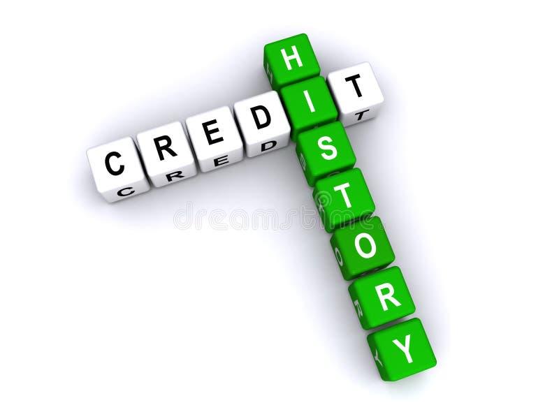 Conceito da história de crédito ilustração do vetor