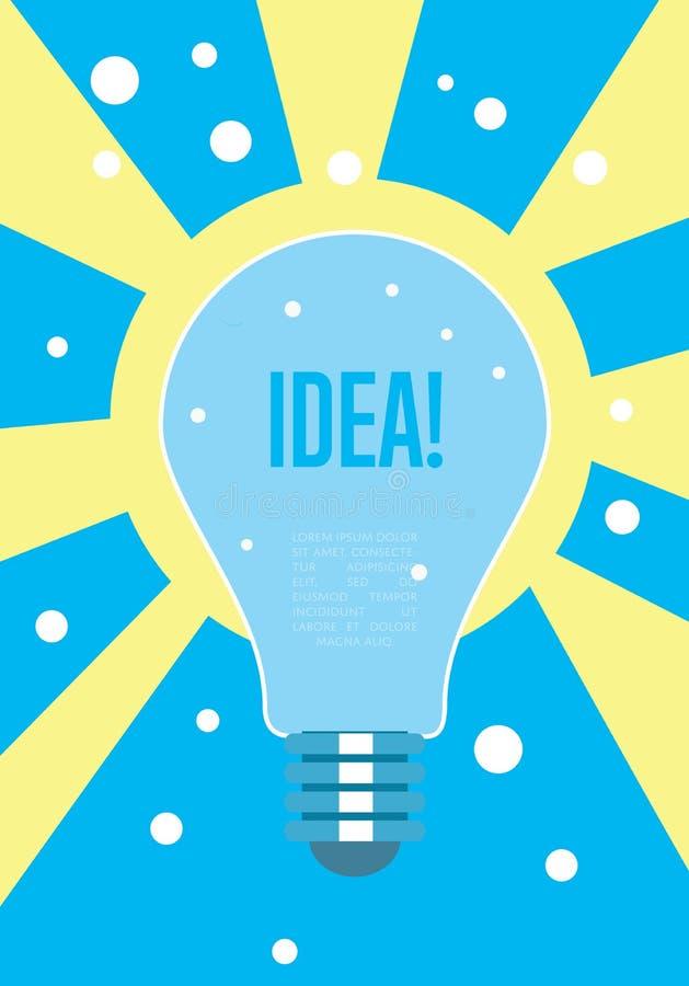 Conceito da ideia da ampola Pensamento creativo ilustração stock