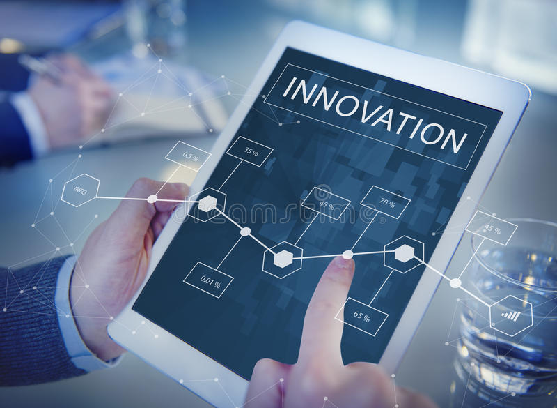 Conceito da ideia da invenção da tecnologia da inovação do negócio foto de stock royalty free