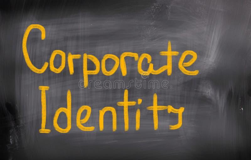 Conceito da identidade corporativa imagem de stock
