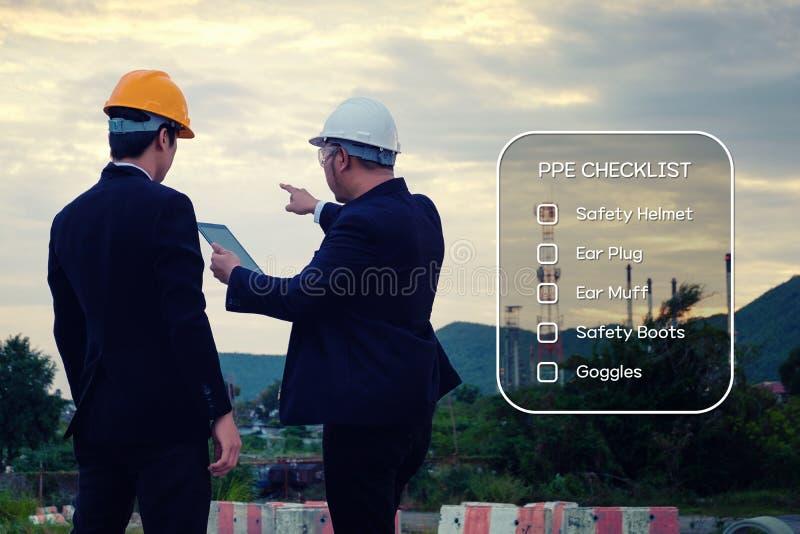 Conceito da identificação e da avaliação de risco do perigo fotografia de stock royalty free