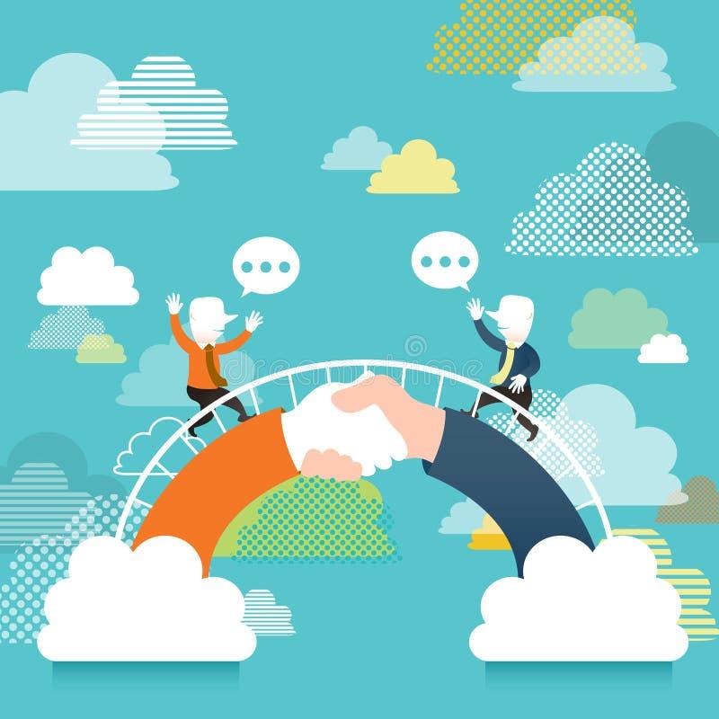 Conceito da ilustração da ponte de uma comunicação ilustração royalty free