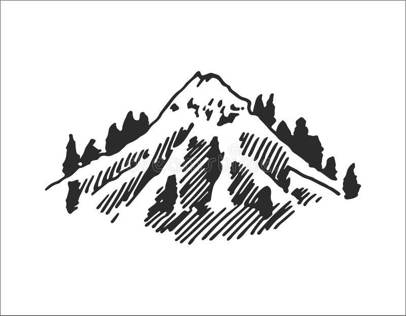 Conceito da ilustração do vetor do logotipo da montanha, apropriado para financeiro, explicar, negócio, curso e outras empresas ilustração do vetor
