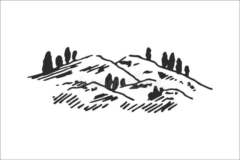 Conceito da ilustração do vetor do logotipo da montanha, apropriado para financeiro, explicar, negócio, curso e outras empresas ilustração stock
