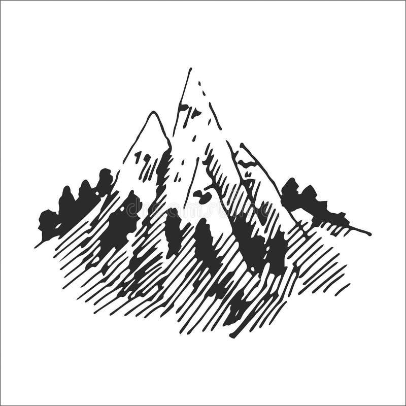 Conceito da ilustração do vetor do logotipo da montanha, apropriado para financeiro, explicar, negócio, curso e outras empresas ilustração royalty free