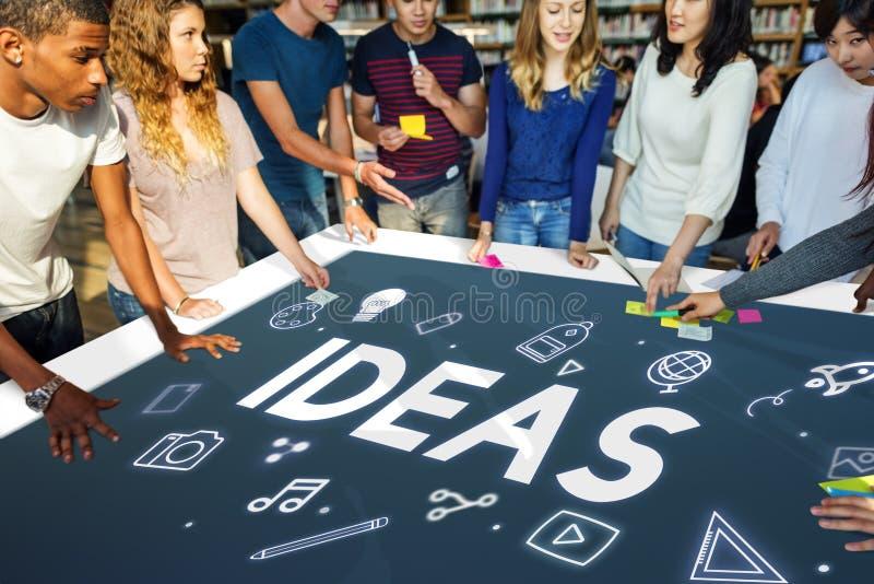 Conceito da imaginação do pensamento criativo das ideias imagem de stock royalty free
