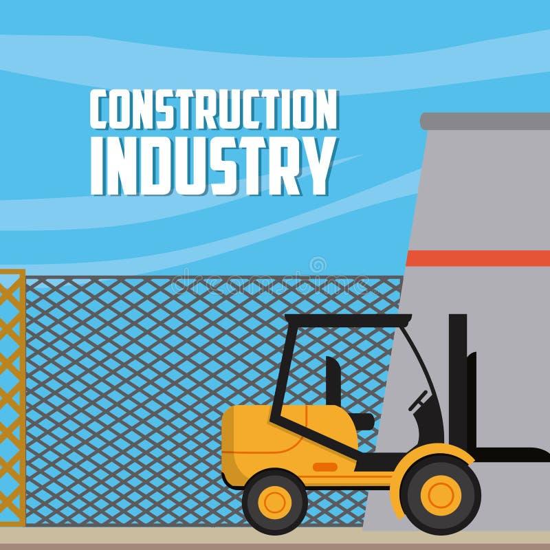 Conceito da indústria da construção civil ilustração do vetor