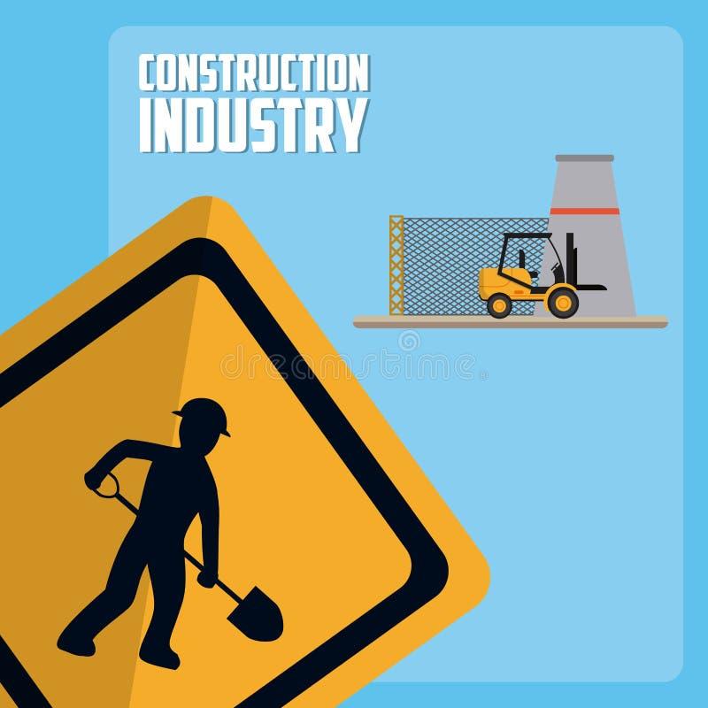 Conceito da indústria da construção civil ilustração stock