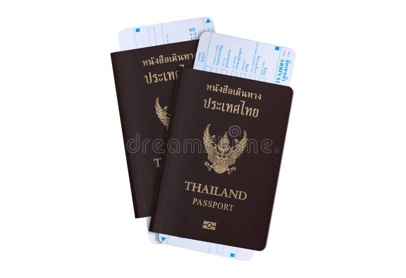 Conceito da indústria de viagens do visto de turista: Passaporte de Tailândia fotografia de stock royalty free