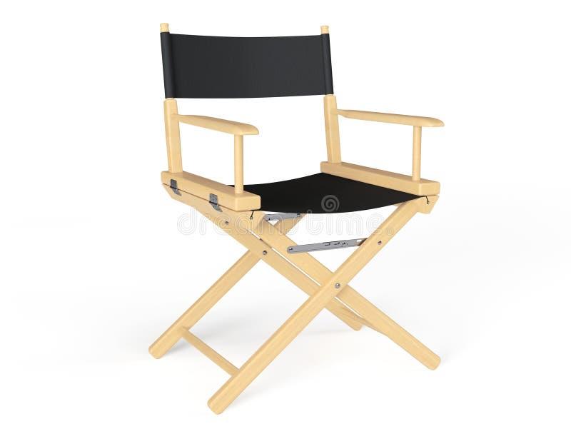 Conceito da indústria do cinema Cadeira do diretor foto de stock