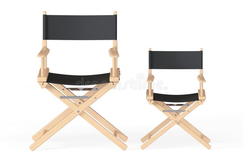 Conceito da indústria do cinema Diretores Cadeira ilustração stock
