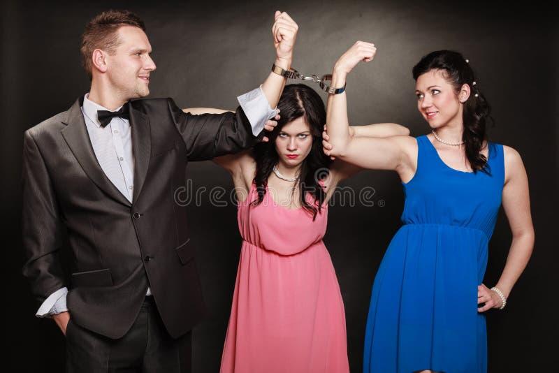 Conceito da infidelidade marital imagem de stock
