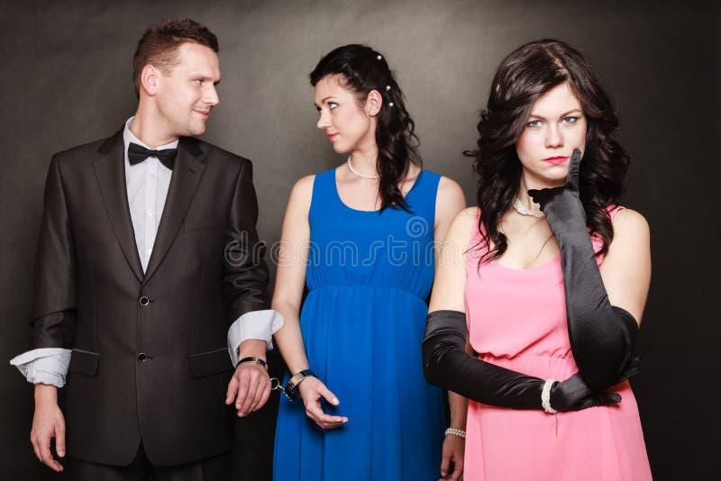 Conceito da infidelidade marital fotografia de stock