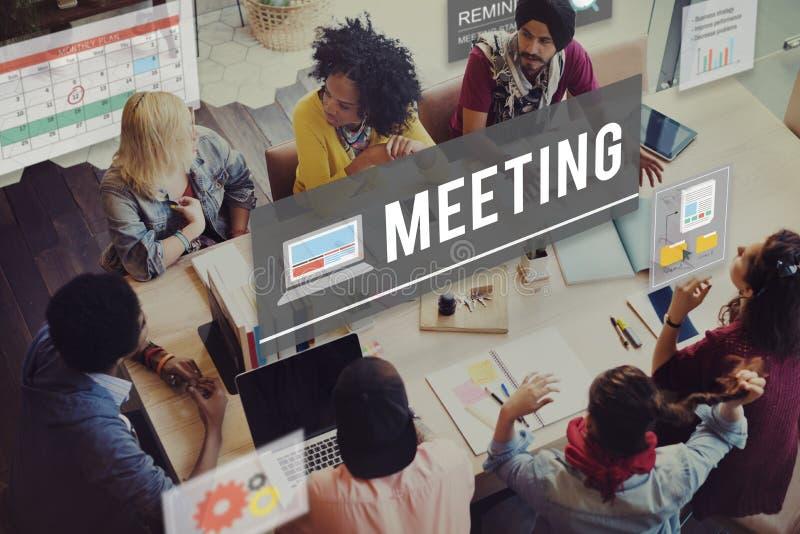 Conceito da informação do negócio da conferência da reunião foto de stock
