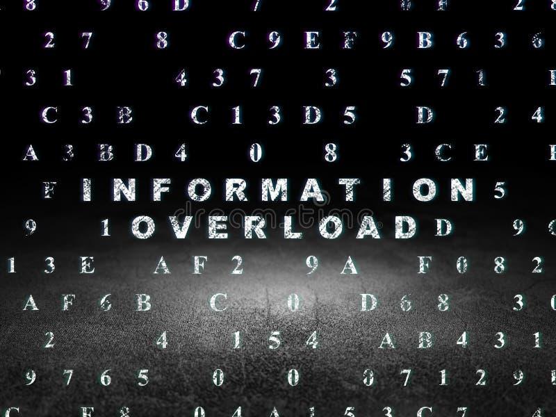 Conceito da informação: Sobrecarga de informação dentro ilustração stock