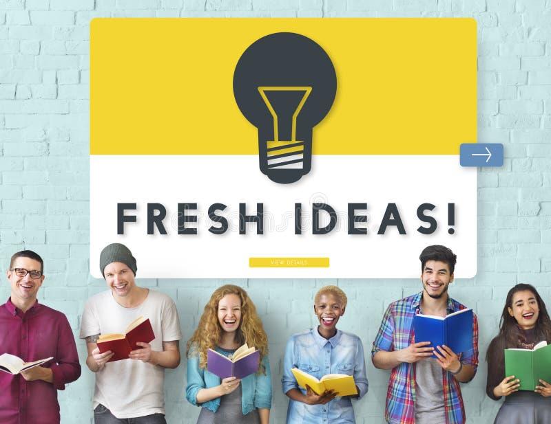 Conceito da inovação da faculdade criadora das ideias frescas fotografia de stock