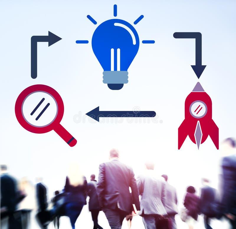Conceito da inovação da visão da imaginação da inspiração das ideias imagens de stock royalty free