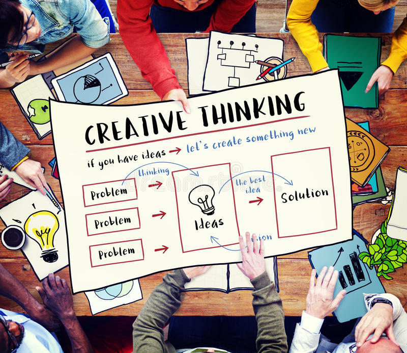 Conceito da inovação das ideias do pensamento criativo imagem de stock