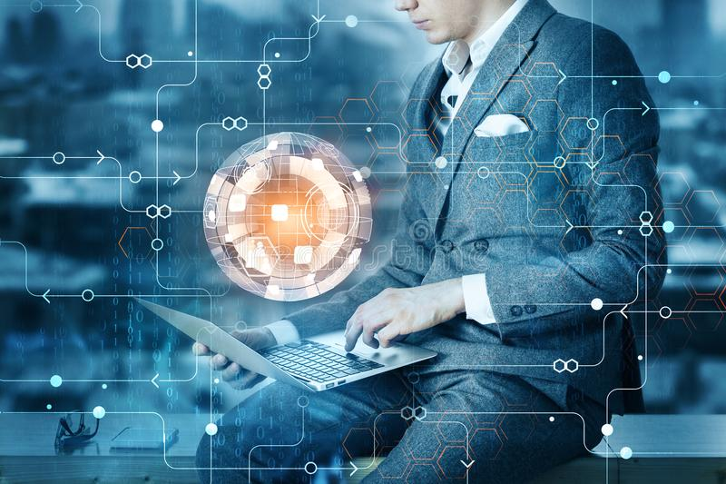 Conceito da inovação e do futuro foto de stock