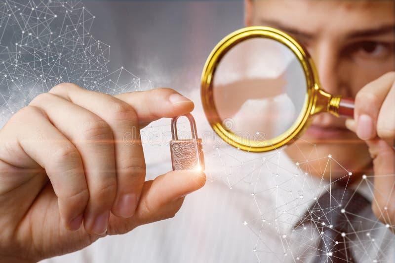 Conceito da inspeção de um sistema de segurança imagem de stock royalty free