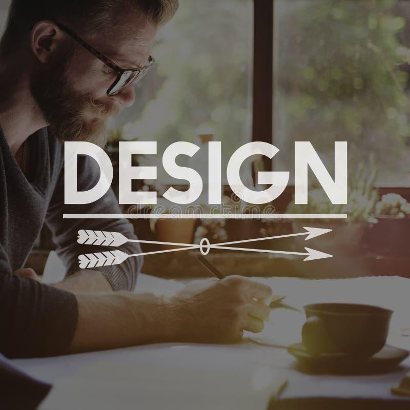 Conceito da inspiração do estilo da faculdade criadora das ideias do projeto imagem de stock