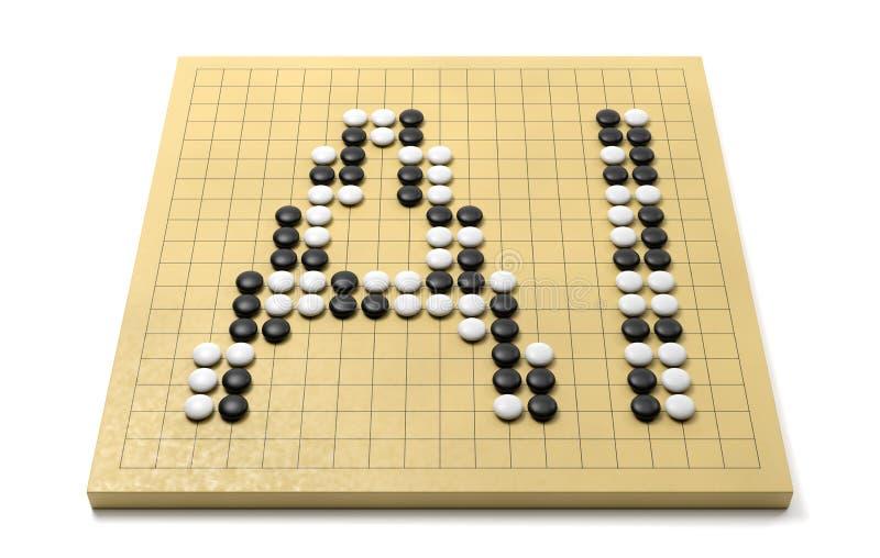 Conceito da inteligência artificial do AI ilustração stock