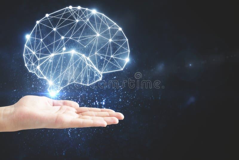 Conceito da inteligência artificial e da mente foto de stock