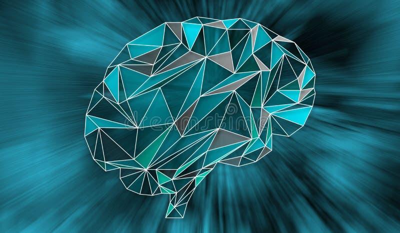 Conceito da inteligência artificial e da rede ilustração stock